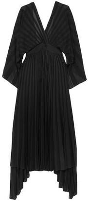 Valentino Asymmetric Open-back Pleated Stretch-knit Dress