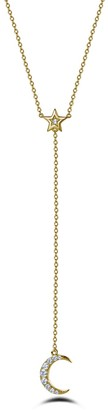 Lafonn Gold Plated Sterling Silver Simulated Diamond Star & Moon Y-Necklace