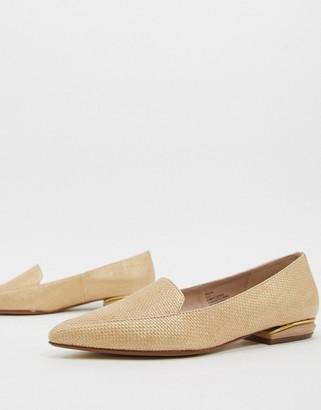 Dune hulaa pointed flat shoes in natural