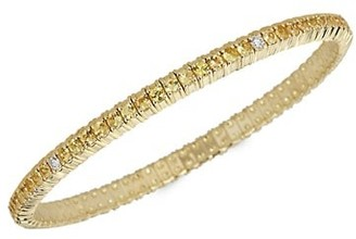 Zydo Stretch 18K Yellow Gold, Yellow Sapphire & Diamond Bracelet