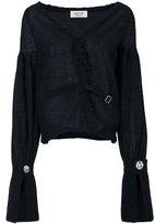 Aviu distressed cardigan - women - Cotton/Polyamide/Wool/Alpaca - 44