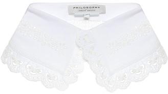 Philosophy di Lorenzo Serafini Cotton embroidered collar
