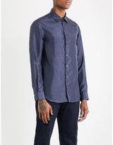 Armani Collezioni Herringbone Silk Shirt