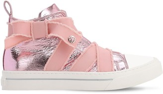 Florens Laminated Faux Leather High Sneakers