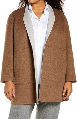 Lafayette 148 New York Marlow Reversible Wool & Cashmere Jacket