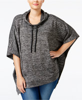 Style&Co. Style & Co. Plus Size Melange-Knit Poncho, Only at Macy's