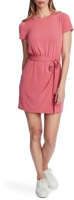 1 STATE Short Sleeve Tie Waist Mini Dress