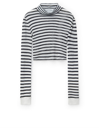 Alexander Wang Striped Slub Mock Neck