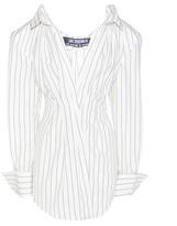 Jacquemus La Robe Meunier Striped Cotton And Linen Dress