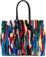 Marni shopper tote bag - women - Leather/Mink Fur - One Size