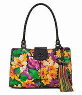 Patricia Nash Summer Evening Bloom Collection Rienzo Tasseled Satchel