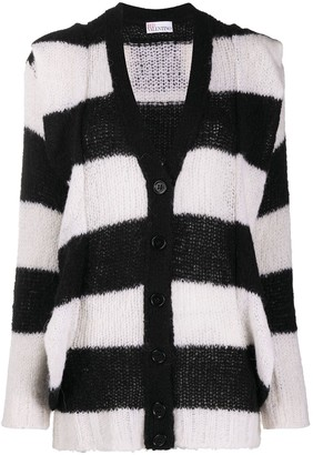 RED Valentino Striped Knitted Cardigan