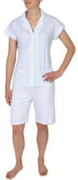 Miss Elaine Printed Bermuda Shorts Pajama Set