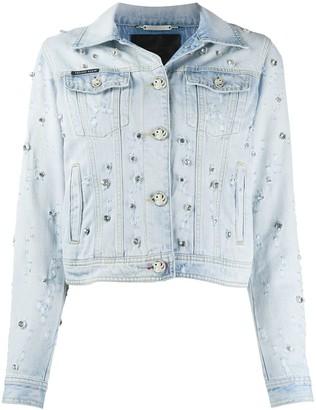 Philipp Plein Embellished Denim Jacket