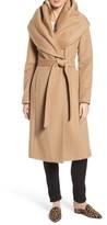 Donna Karan Women's Dkny Wool Blend Shawl Collar Wrap Coat