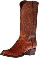 Lucchese Classics Men's Montana-Tan Burn F.Q. Ost Tan Ranch Riding Boot