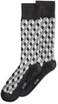 Alfani Spectrum Diamond Pattern Single Crew Socks