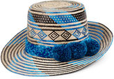 Yosuzi Blue Multi Jotsü Straw Hat