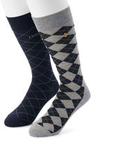 Izod Men's 2-pack Argyle Dress Socks