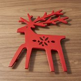 Crate & Barrel Red Reindeer Trivet