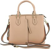 MuLier Handbag Front Vertical Zipper Pocket Real Leather Women Fashion Shoulder Bag
