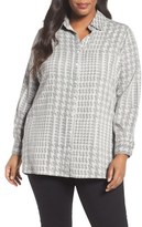 Foxcroft Houndstooth Shirt (Plus Size)