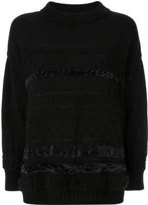 Coohem solid tweedy knit jumper