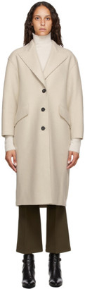 Harris Wharf London Beige Pressed Virgin Wool Great Coat