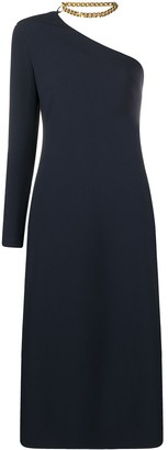 STAUD One-Shoulder Mid-Length Dress