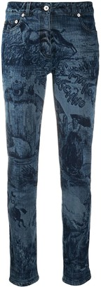 Moschino Printed Skinny Jeans