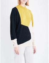 Dries Van Noten Tacey geometric wool jumper