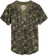American Rag Men's Camouflage Short-Sleeve Henley, Only at Macy's