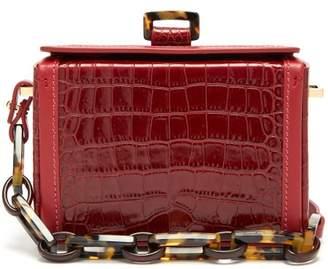 Nico Giani - Cerea Mini Croc-effect Leather Box Bag - Womens - Red