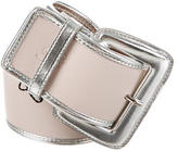 Blumarine Metallic Leather Waist Belt w/ Tags