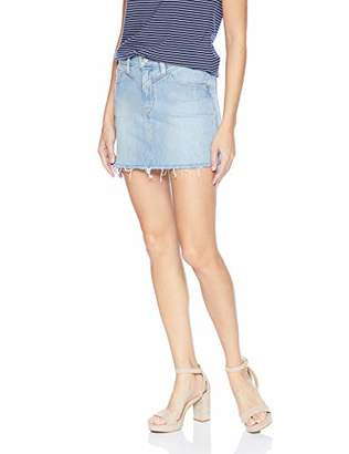 Hudson Jeans Women's Front Yoke Skirt with RAW Hem