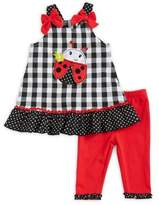Nannette Baby Girl's Two Piece Ladybug Tank and Pants Set