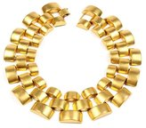 Ben-Amun Gold Round Pyramid Necklace