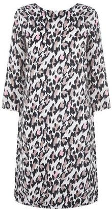 Oui Long Sleeve Leopard Print Dress