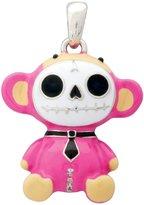 Summit Furry Bones Skull Pink Munky Monkey Pendant Jewelry Accessory