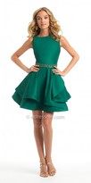 Camille La Vie Mikado Tiered Fit And Flare Homecoming Dress