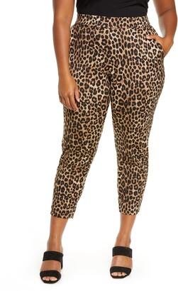 MICHAEL Michael Kors Cheetah Print Slim Pants