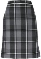 Thom Browne checked skirt