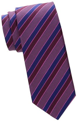 Canali Check & Diagonal Stripe Silk Tie