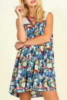 Umgee USA Blue Floral Dress