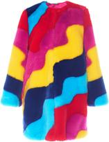 Mira Mikati Rainbow Wave Fur Coat