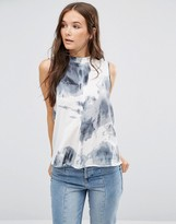 B.young High Neck Tie Dye Top