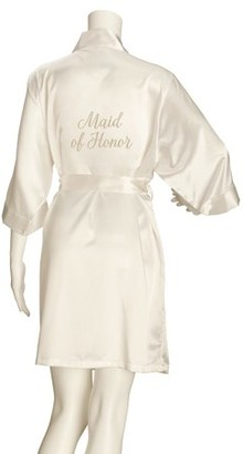 Lillian Rose Ivory Satin Maid of Honor Robe (S/M)