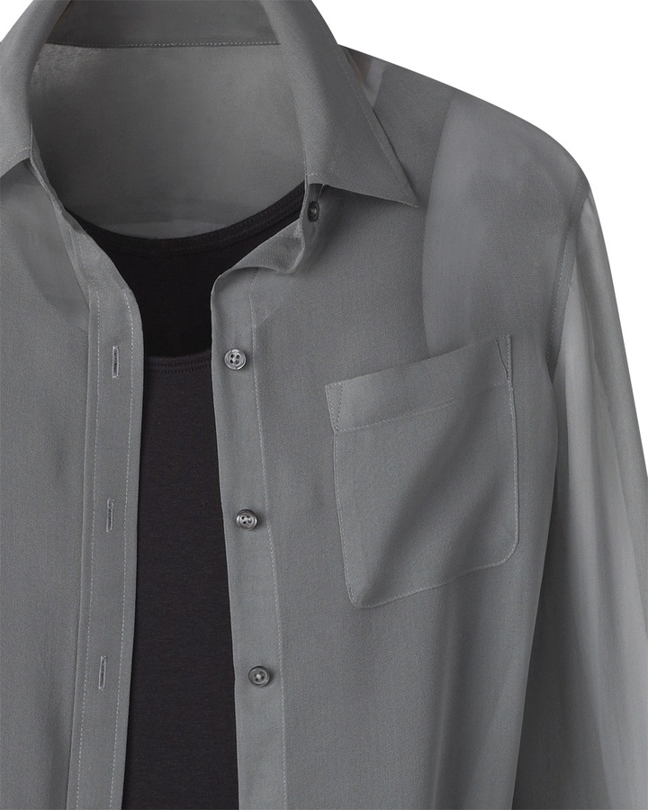 Coldwater Creek Pocket detail big shirt