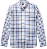 Todd Snyder Button-down Collar Checked Cotton Shirt - White