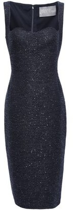 Lela Rose Sequin-embellished Jacquard Dress